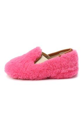 Детского домашние туфли из меха GALLUCCI розового цвета, арт. M00003AS/SC P C CRE MCU | Фото 2 (Материал внешний: Натуральный мех; Материал внутренний: Натуральная кожа; Кросс-КТ: слиперы)