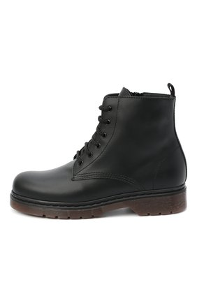 Детские кожаные ботинки IL GUFO черного цвета, арт. G389/VITELL0/35-42 | Фото 2