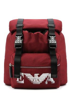Детская рюкзак EMPORIO ARMANI красного цвета, арт. 402521/0A551   Фото 1