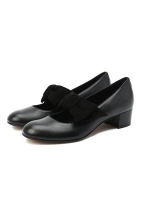 Детские кожаные туфли MISSOURI черного цвета, арт. 78056N/35-41   Фото 1