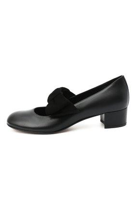 Детские кожаные туфли MISSOURI черного цвета, арт. 78056N/35-41   Фото 2