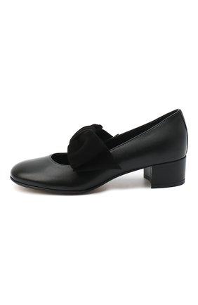 Детские кожаные туфли MISSOURI черного цвета, арт. 78056N/31-34   Фото 2