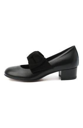 Детские кожаные туфли MISSOURI черного цвета, арт. 78056N/27-30   Фото 2