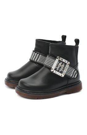 Детские кожаные ботинки MISSOURI черного цвета, арт. 4801/18-26   Фото 1