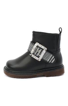 Детские кожаные ботинки MISSOURI черного цвета, арт. 4801/18-26   Фото 2