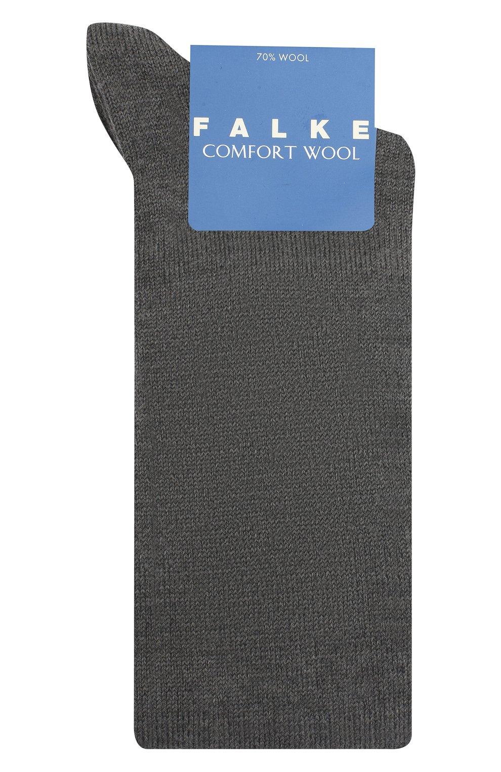 Детские шерстяные гольфы FALKE светло-серого цвета, арт. 11488.   Фото 1 (Материал: Шерсть)
