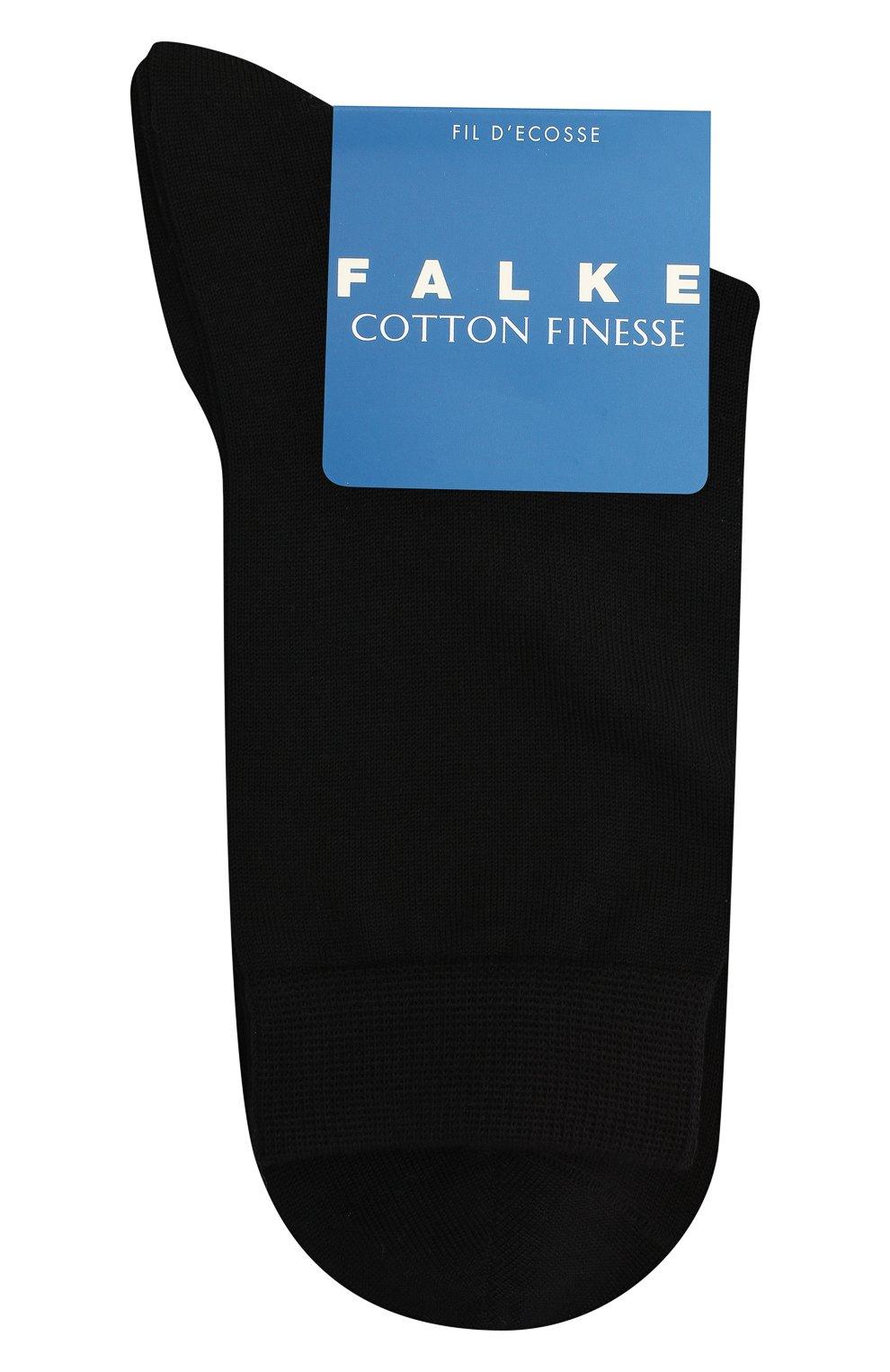 Детские носки FALKE черного цвета, арт. 10669.   Фото 1 (Материал: Текстиль, Хлопок)