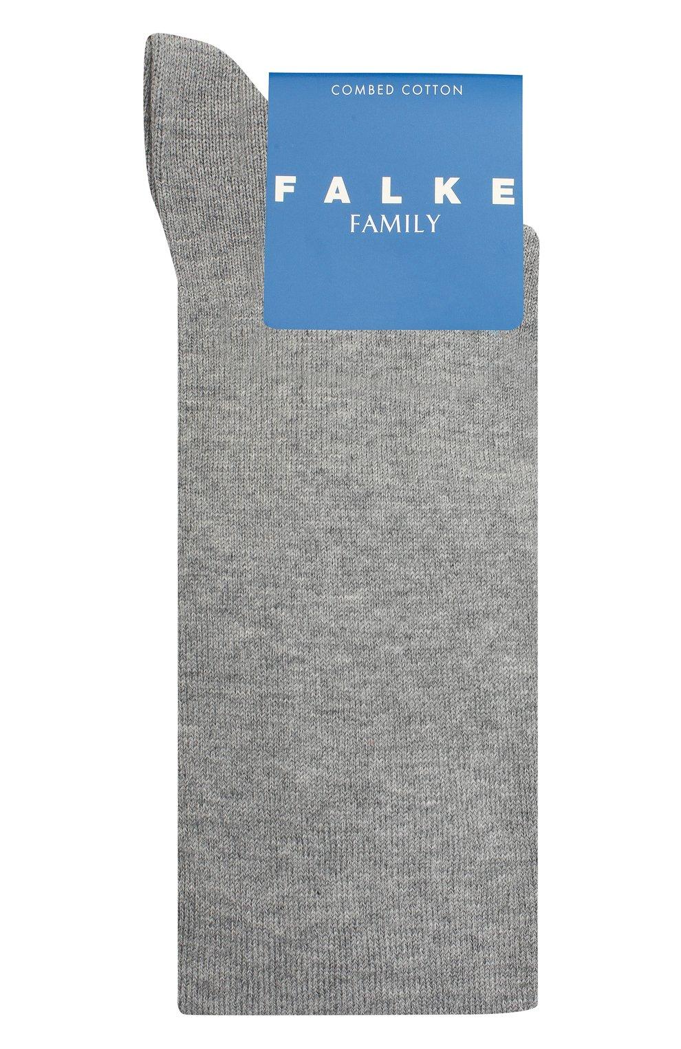 Детские гольфы FALKE серого цвета, арт. 11645. | Фото 1 (Материал: Текстиль, Хлопок)