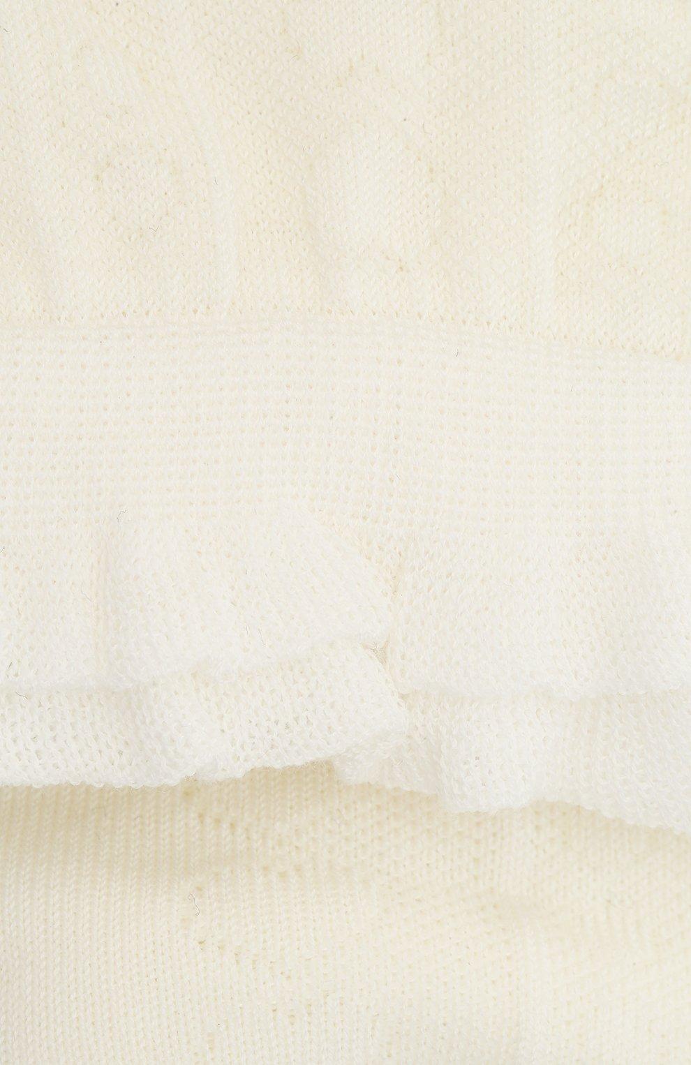 Детские хлопковые носки FALKE бежевого цвета, арт. 12140. | Фото 2 (Материал: Текстиль, Хлопок)