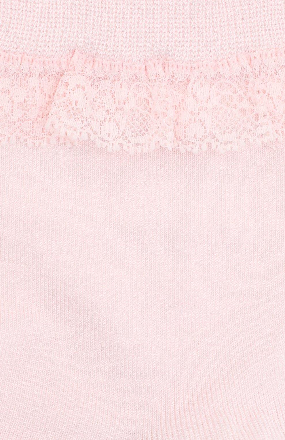 Детские хлопковые носки FALKE светло-розового цвета, арт. 12141. | Фото 2