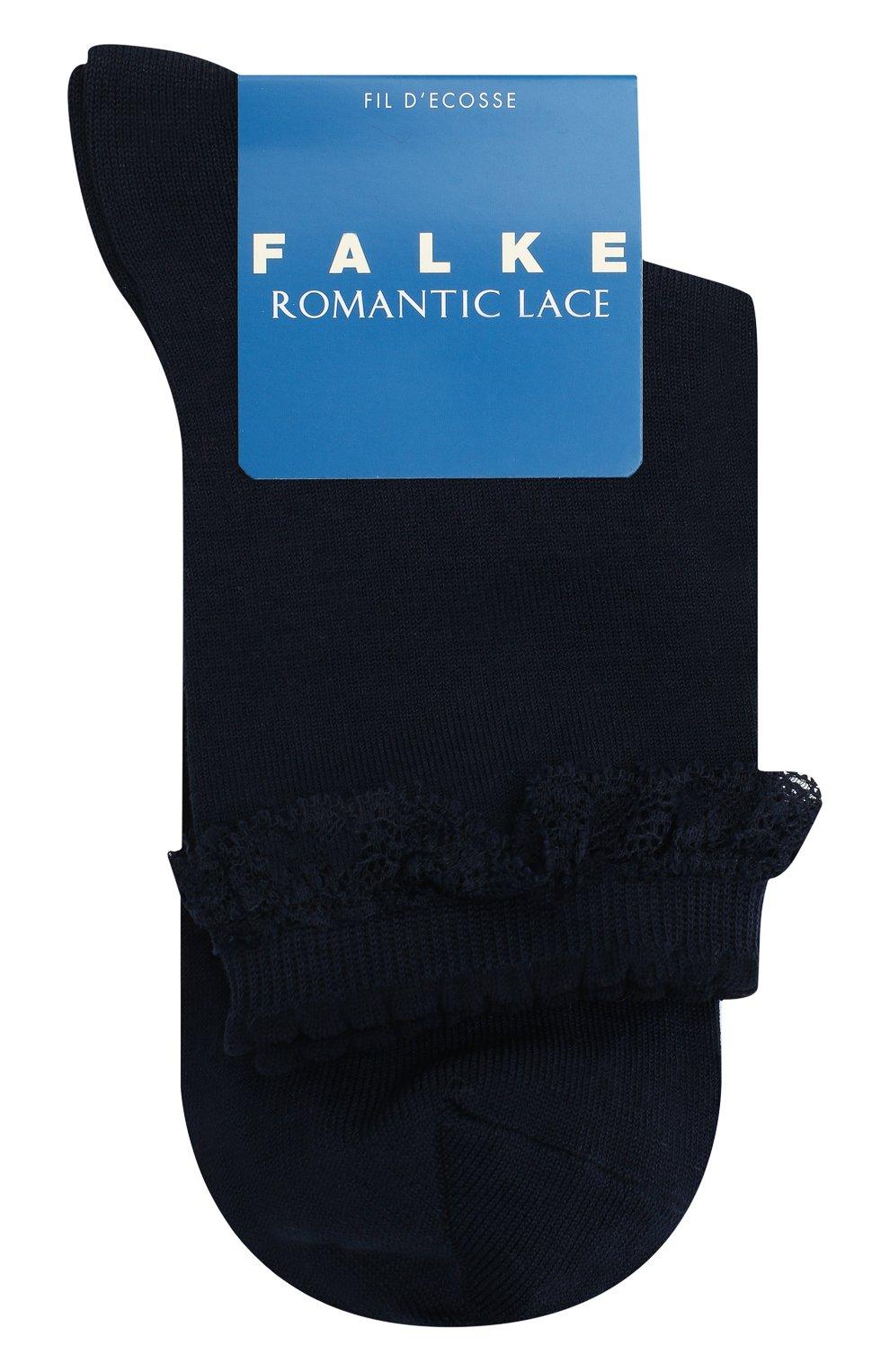 Детские хлопковые носки FALKE темно-синего цвета, арт. 12141. | Фото 1