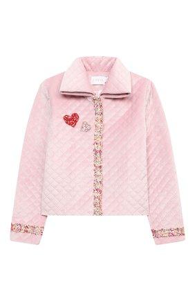 Детский комплект из жакета и юбки EIRENE розового цвета, арт. 202164 | Фото 2