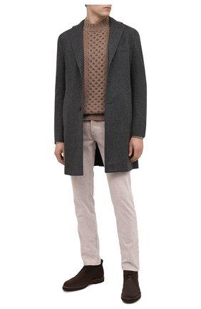 Мужской пальто из шерсти и кашемира LUCIANO BARBERA темно-серого цвета, арт. 106036/08645   Фото 2