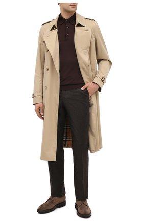 Мужское поло из кашемира и шелка BRIONI коричневого цвета, арт. UMR30L/P9K28 | Фото 2