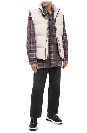 Мужские кожаные кеды HUGO черного цвета, арт. 50414627 | Фото 2
