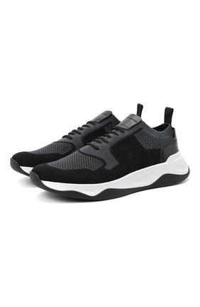 Мужские текстильные кроссовки BERLUTI серого цвета, арт. S5046-002 | Фото 1