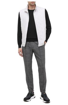 Мужские текстильные кроссовки BERLUTI серого цвета, арт. S5046-002 | Фото 2