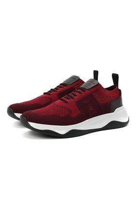 Мужские текстильные кроссовки BERLUTI бордового цвета, арт. S5046-005 | Фото 1