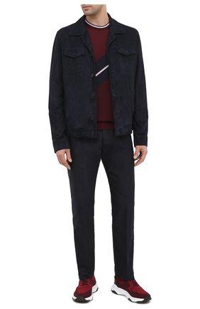 Мужские текстильные кроссовки BERLUTI бордового цвета, арт. S5046-005 | Фото 2