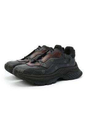 Мужские кроссовки BERLUTI черного цвета, арт. S5223-008 | Фото 1