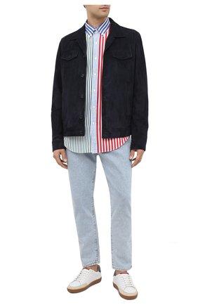 Мужская хлопковая рубашка POLO RALPH LAUREN разноцветного цвета, арт. 710799609/4841 | Фото 2