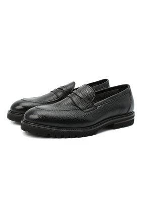 Мужские кожаные пенни-лоферы H`D`S`N BARACCO черного цвета, арт. 80403.L.1* | Фото 1
