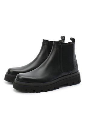 Мужские кожаные челси SERGIO ROSSI черного цвета, арт. A91440-MFI143 | Фото 1