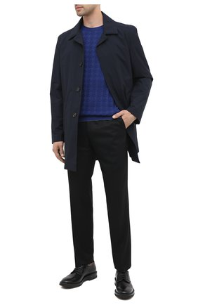 Мужской кожаные дерби SERGIO ROSSI черного цвета, арт. A91510-MMVG04   Фото 2