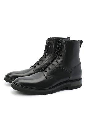 Мужские кожаные ботинки SERGIO ROSSI черного цвета, арт. A91520-MMVG04 | Фото 1