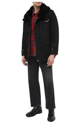 Мужские кожаные ботинки SERGIO ROSSI черного цвета, арт. A91520-MMVG04 | Фото 2