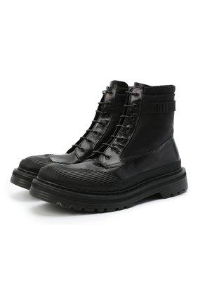 Мужские комбинированные ботинки PREMIATA черного цвета, арт. 31709/SELUX/NYAP | Фото 1