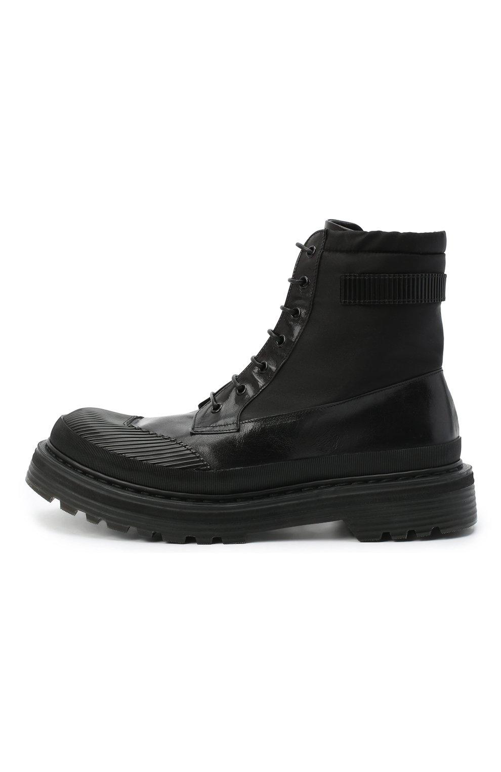 Мужские комбинированные ботинки PREMIATA черного цвета, арт. 31709/SELUX/NYAP | Фото 3