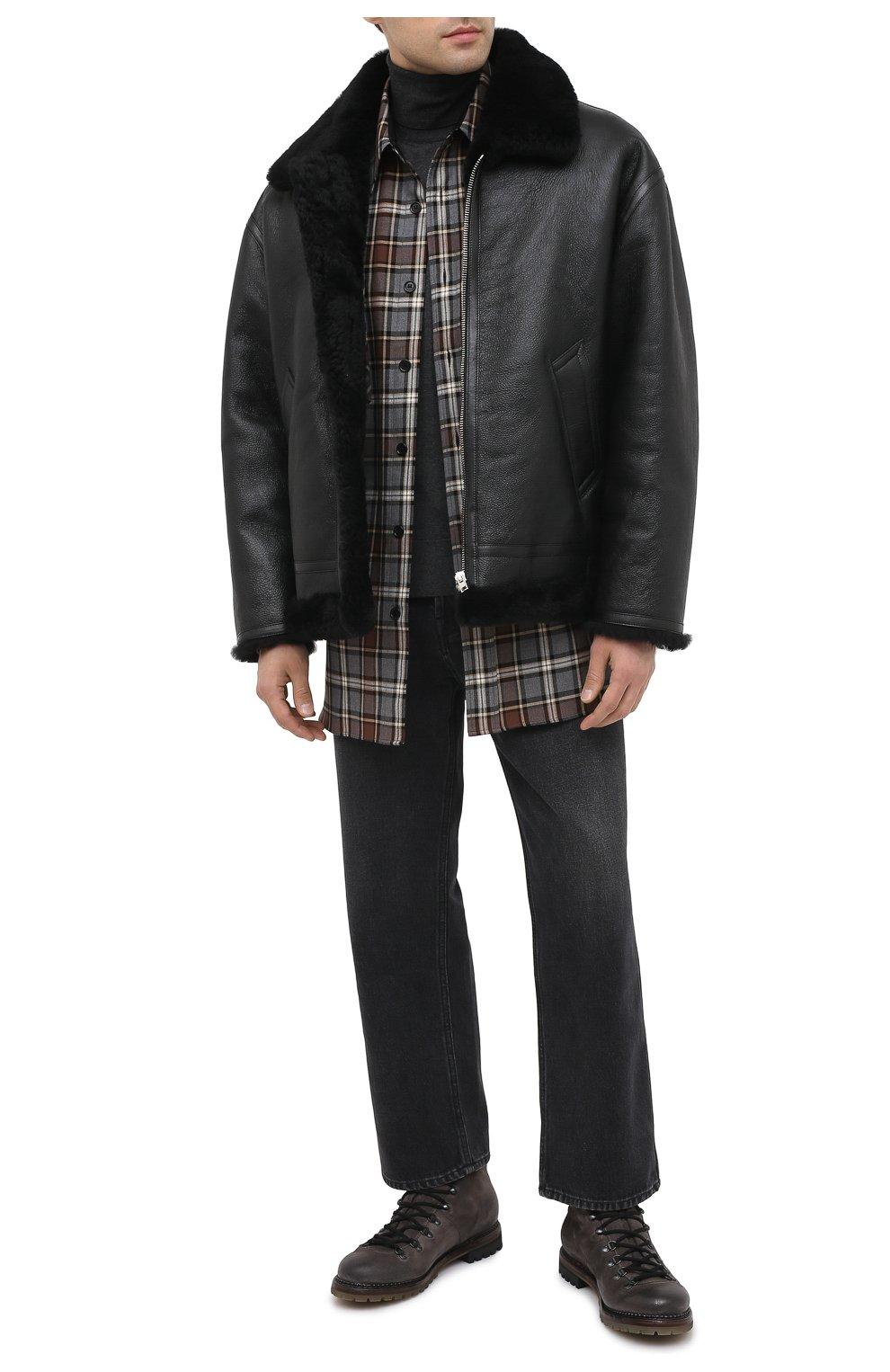 Мужские кожаные ботинки PREMIATA темно-серого цвета, арт. 339P/VINZ+F0D M0NT0NE | Фото 2