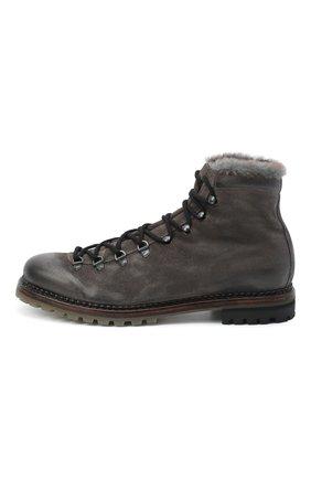Мужские кожаные ботинки PREMIATA темно-серого цвета, арт. 339P/VINZ+F0D M0NT0NE | Фото 3
