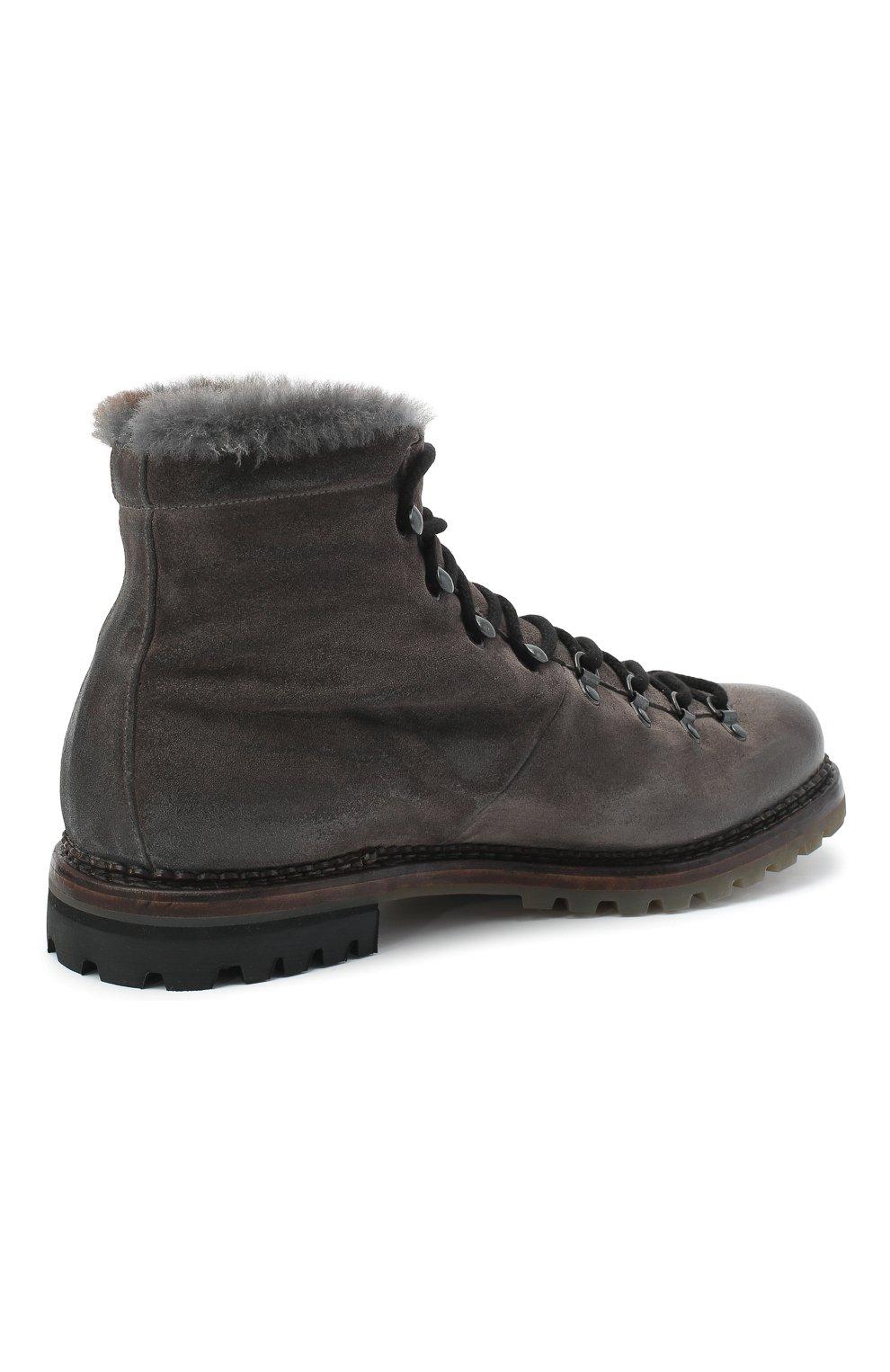 Мужские кожаные ботинки PREMIATA темно-серого цвета, арт. 339P/VINZ+F0D M0NT0NE | Фото 4