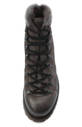 Мужские кожаные ботинки PREMIATA темно-серого цвета, арт. 339P/VINZ+F0D M0NT0NE | Фото 5