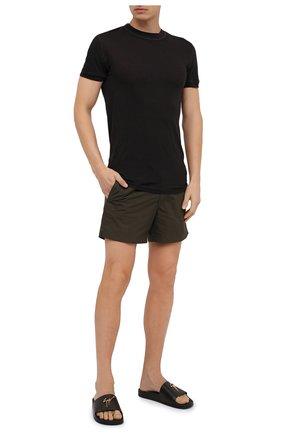 Мужские кожаные шлепанцы brett GIUSEPPE ZANOTTI DESIGN черного цвета, арт. RM90068/027 | Фото 2