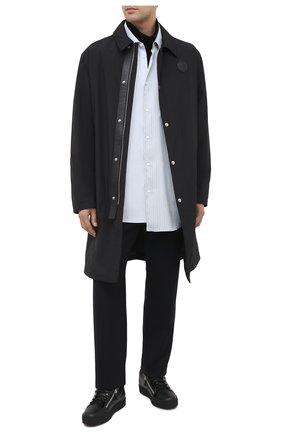 Мужские кожаные кеды frankie GIUSEPPE ZANOTTI DESIGN черного цвета, арт. RU00010/012 | Фото 2