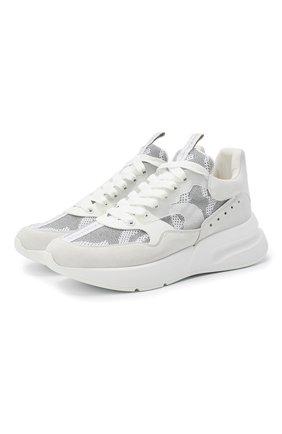 Мужские комбинированные кроссовки ALEXANDER MCQUEEN белого цвета, арт. 627193/WHBGS | Фото 1