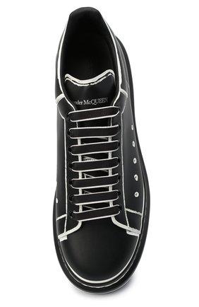 Мужские кожаные кеды ALEXANDER MCQUEEN черно-белого цвета, арт. 627867/WHYBI | Фото 5