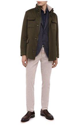 Мужская рубашка из хлопка и кашемира ZILLI темно-синего цвета, арт. MFU-01801-64036/0001 | Фото 2