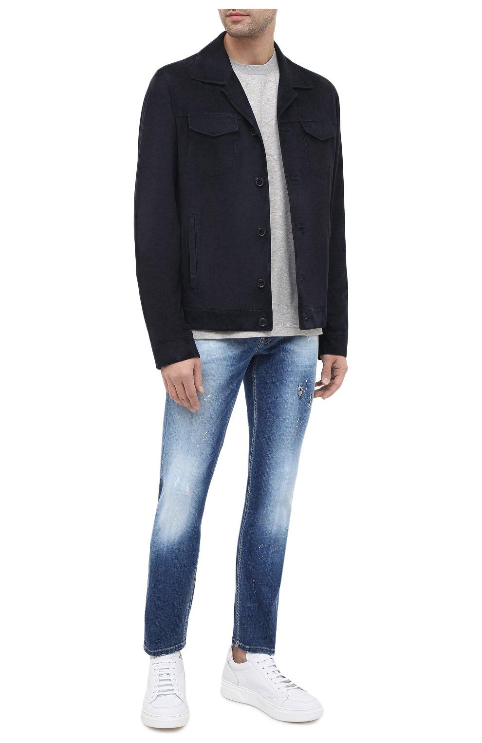 Мужские джинсы PREMIUM MOOD DENIM SUPERIOR синего цвета, арт. F21 310340025/PAUL   Фото 2