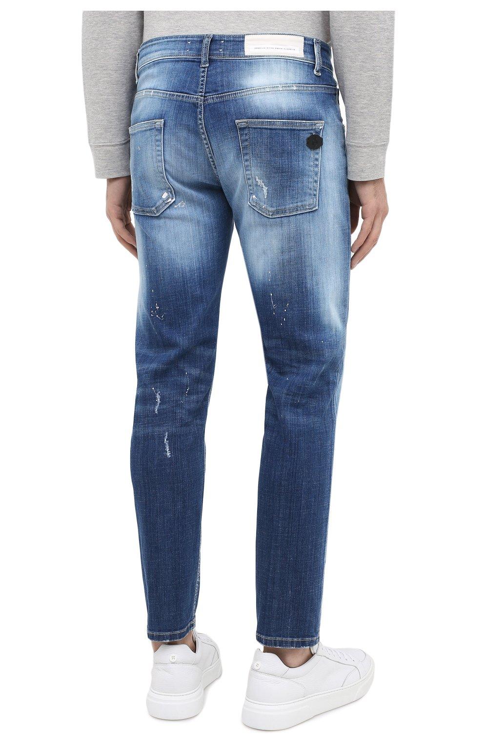 Мужские джинсы PREMIUM MOOD DENIM SUPERIOR синего цвета, арт. F21 310340025/PAUL   Фото 4