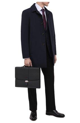 Мужской кожаный портфель SERAPIAN темно-синего цвета, арт. SCACHMLL7095M38A | Фото 2