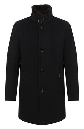 Мужской кашемировое пальто bond MOORER темно-синего цвета, арт. B0ND/FUR-LE/A20M060LEN0 | Фото 1
