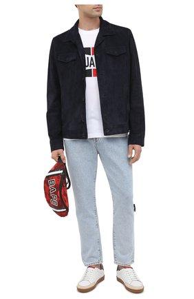 Мужская текстильная поясная сумка BAPE красного цвета, арт. 1G30182008 | Фото 2