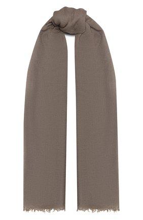 Мужской шарф из шерсти и шелка RICK OWENS бежевого цвета, арт. RU20F3462 | Фото 1