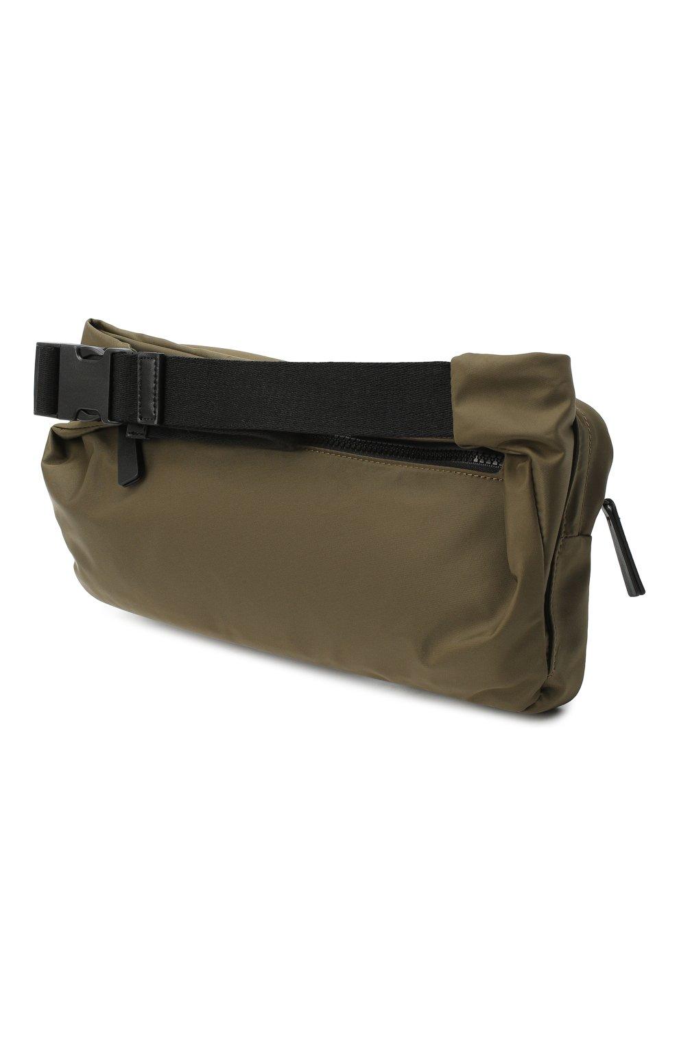 Мужская текстильная поясная сумка DSQUARED2 хаки цвета, арт. BBM0020 11702174   Фото 3