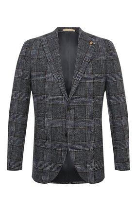 Мужской шерстяной пиджак SARTORIA LATORRE темно-серого цвета, арт. G0I7EF Q80767 | Фото 1