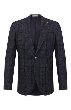 Мужской пиджак из шерсти и хлопка SARTORIA LATORRE темно-синего цвета, арт. G0I7MF Q80442 | Фото 1